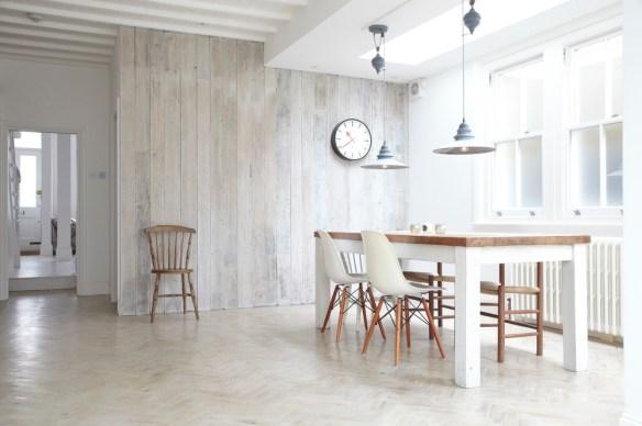 blanco comedor madera pared