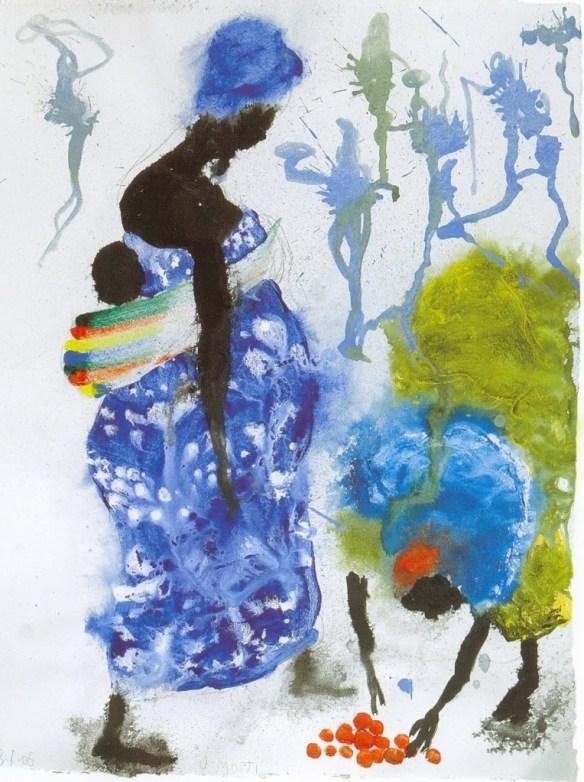 pinturas_miguel_barcelo_embarazada_mercado