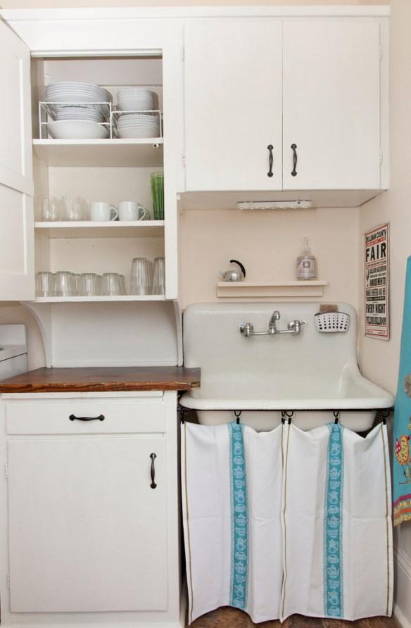 cocina mini con tiradores nuevos
