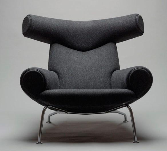 Wegner sillón metal negro