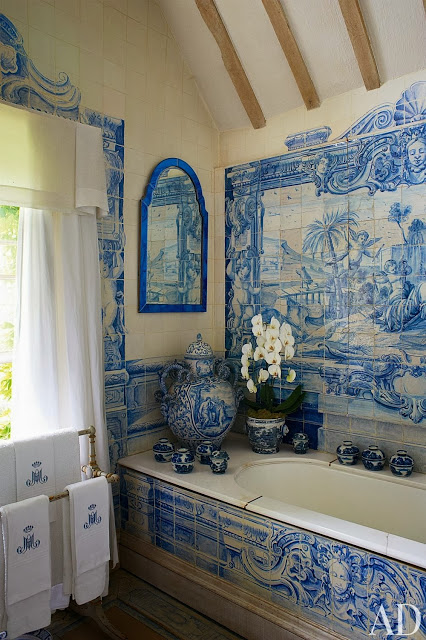 decorar azul bano