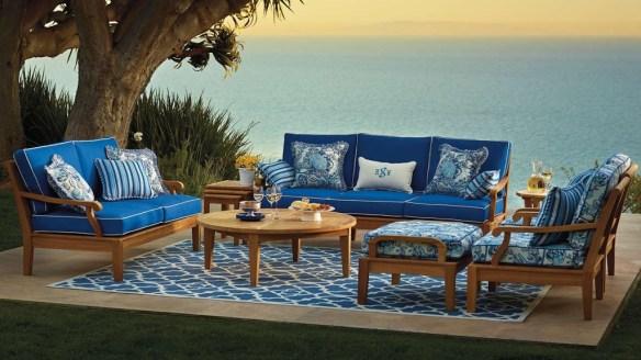 decorar azul terraza
