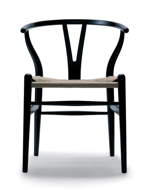 wegner silla negra madera