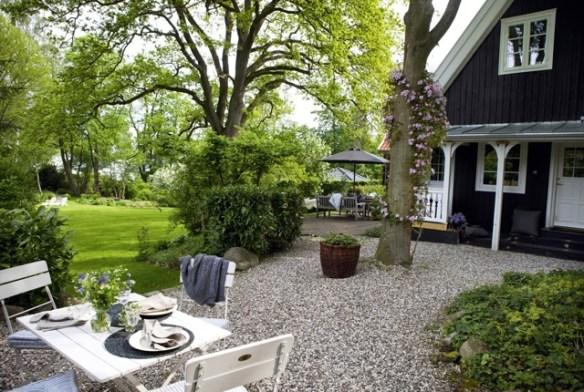 Casa de campo escandinava destacada