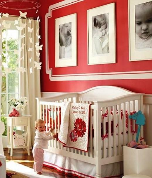 habitacion bebe roja