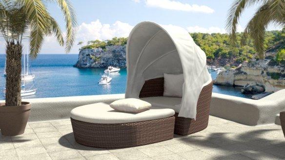 Muebles de mimbre para exteriores 2