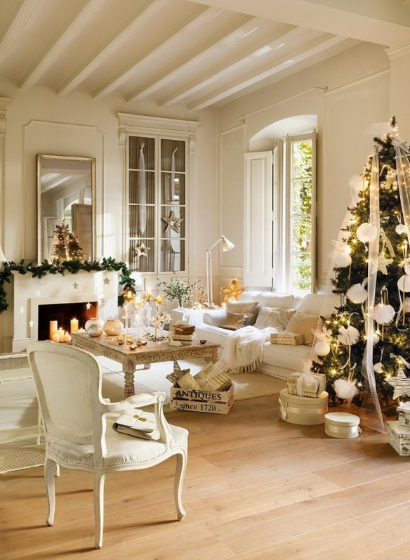 Decoracion navidena en blanco 10