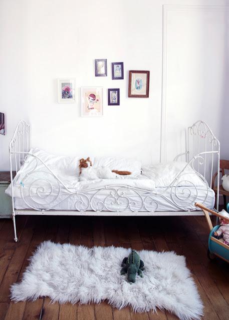 Camas forja blanca vintage