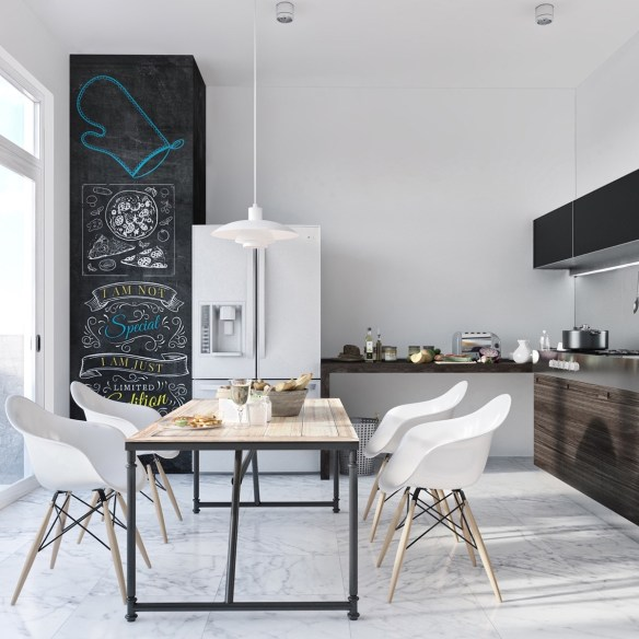 scandinavian-monochrome-kitchen-black-accents-white-fridge