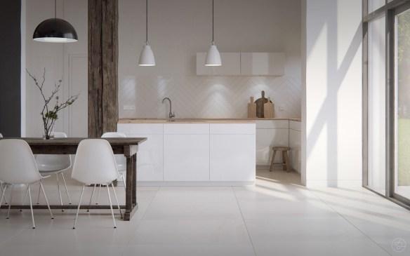 bare-scandinavian-kitchen-white-tiled-floor-open-black-framed-window