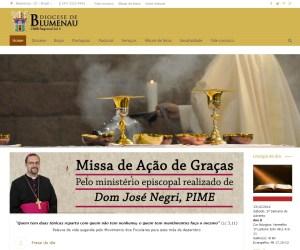 Novo site da Diocese de Blumenau