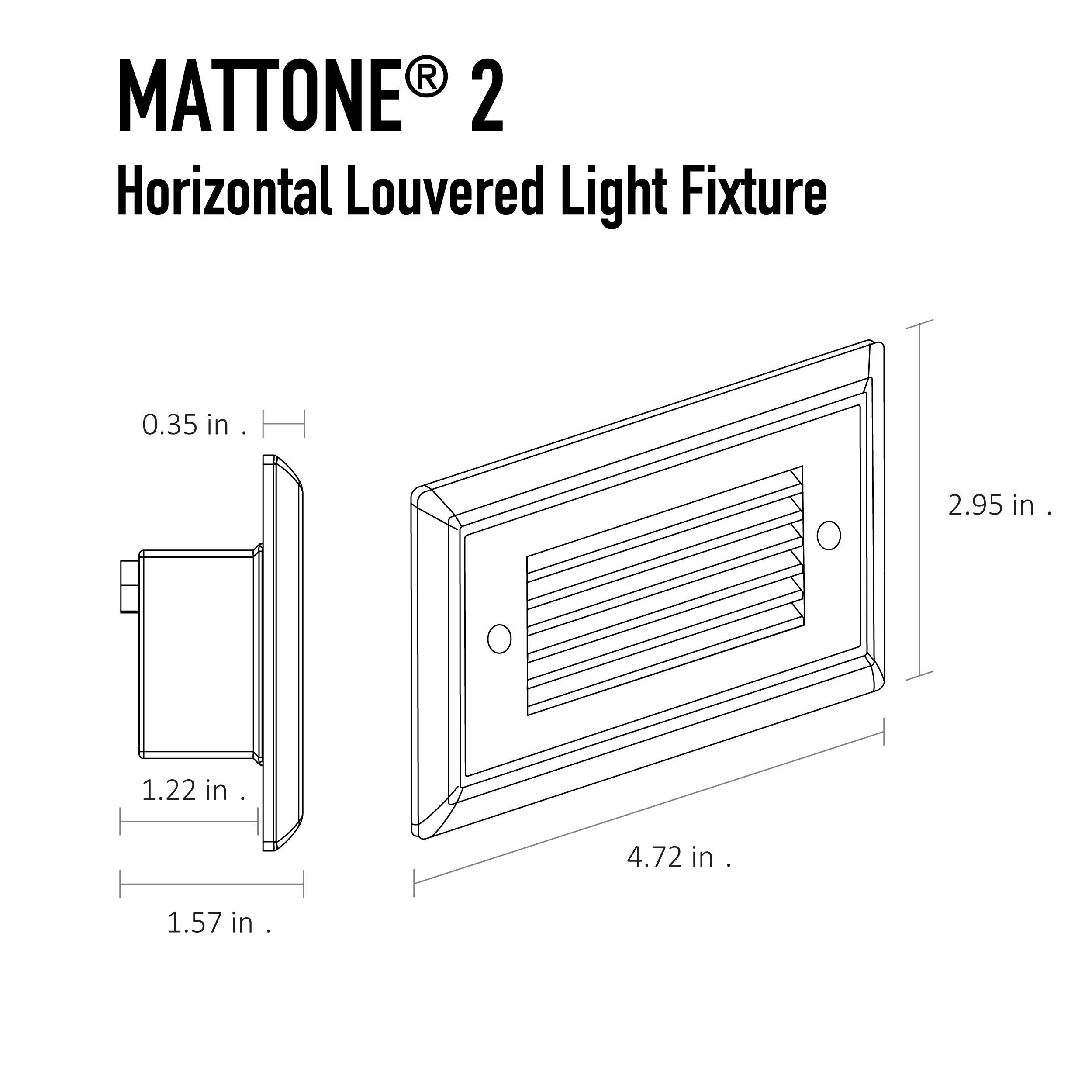 Mattone 2 Direct Wire Led Step Light