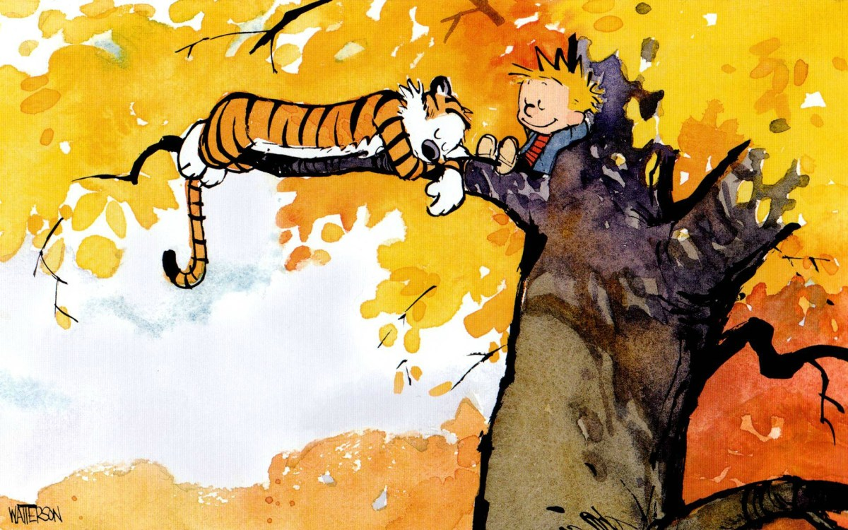 image: Calvin and Hobbes, two best friends, by Bill Watterson