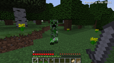 A creeper stalking me