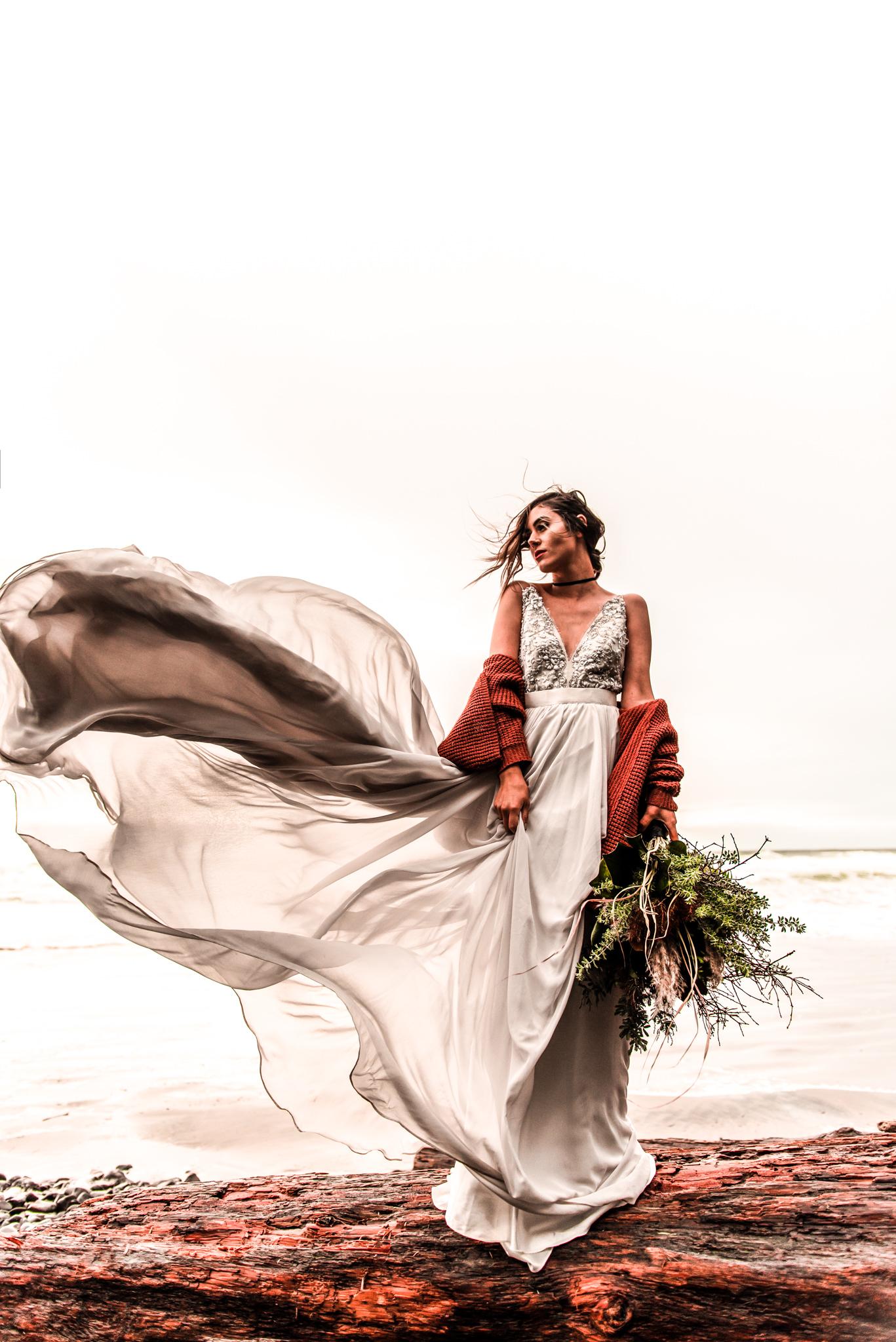 Cannon Beach OR Elopement wedding photograph
