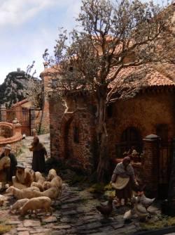 La Natività a Palazzo-Scene di Presepi Padova, Piazza dei Signori.