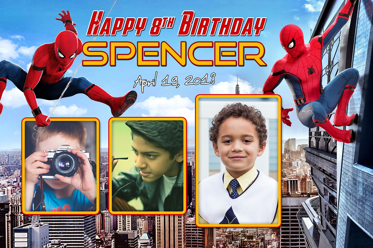 spider man birthday tarp