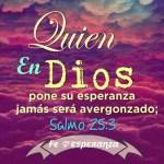Confía en el Señor y no  serás avergonzado-2