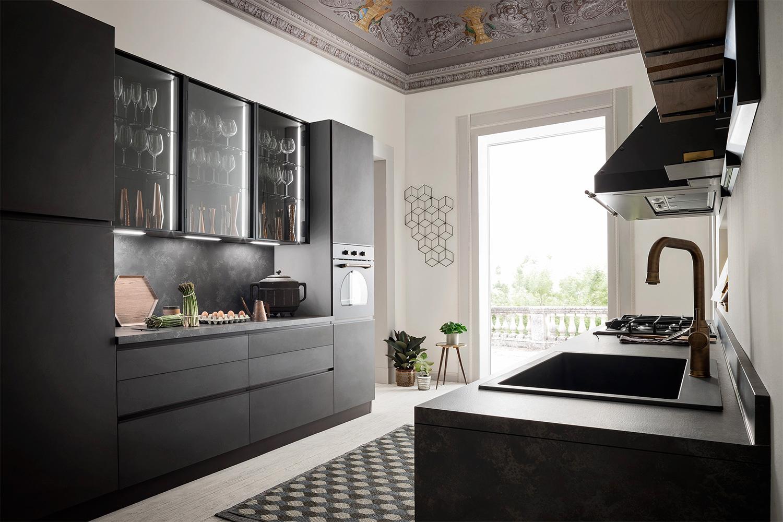 Disposizioni di cucina su due lati adiacenti. Cucina Lineare Su Due Pareti Five 01 Diotti Com