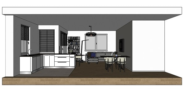 Progetto cucina soggiorno 25 mq. Idee I Nostri Progetti Cucina E Soggiorno In Un Open Space Di 30 Mq Diotti Com