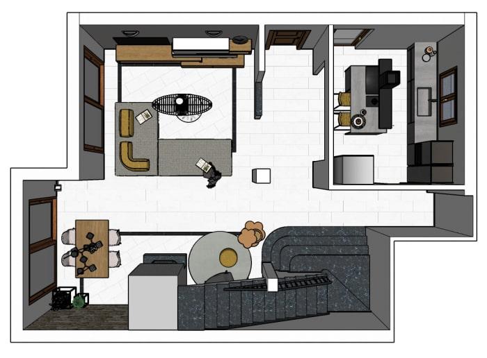 Lo spazio da progettare ed arredare è costituito da una superficie di 25 mq a pianta rettangolare: Idee I Nostri Progetti Ri Arredare Un Living Con Cucina In 50 Mq Diotti Com