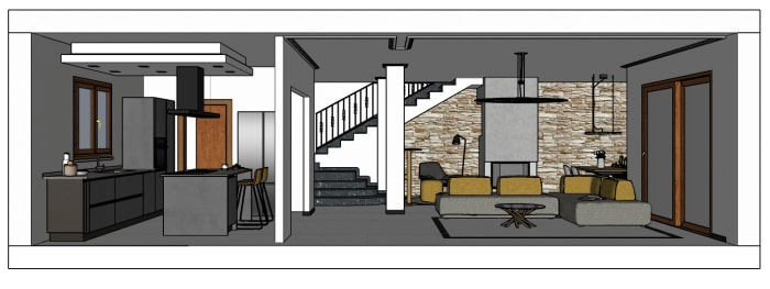 mq 50, soggiorno con cucina, camera da letto e bagno con finestra. Idee I Nostri Progetti Ri Arredare Un Living Con Cucina In 50 Mq Diotti Com