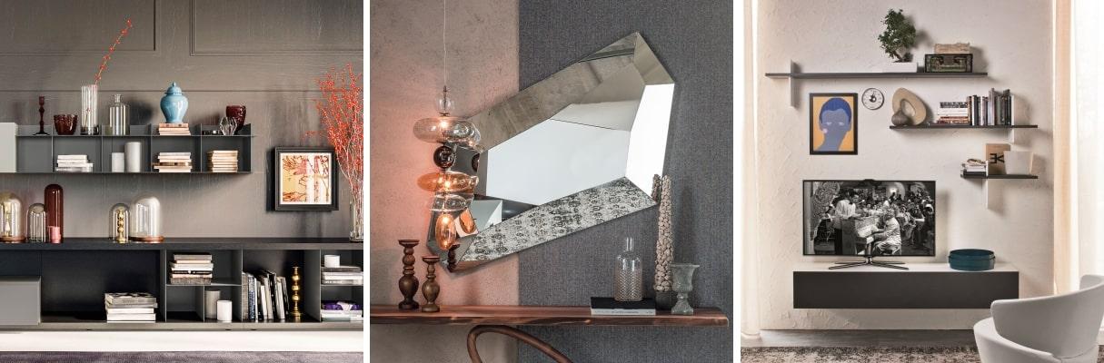 Ispirata a un fresco minimalismo, la collezione giorno riflette la ricerca di. Idee 73 Idee Per Arredare Le Pareti Del Soggiorno Diotti Com