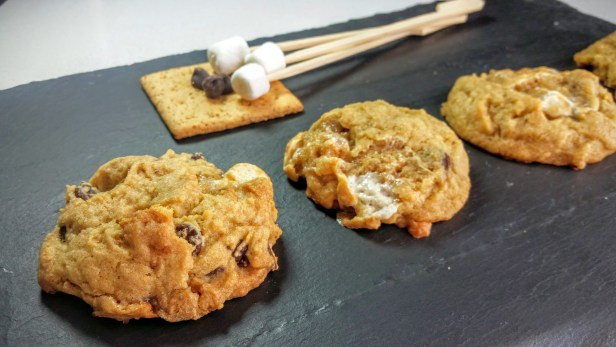 Chewy S'mores Pudding cookies