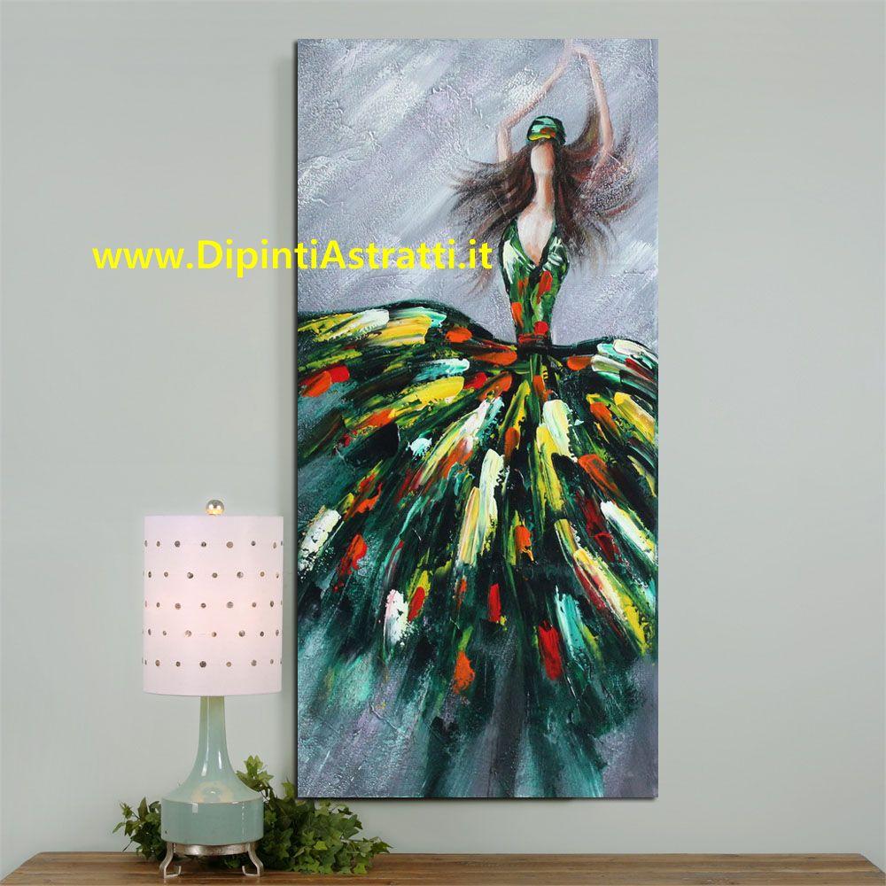 Quadro moderno figura donna danzante dipintiastratti for Dipinti figurativi moderni