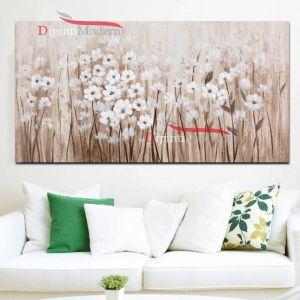 Dipinto a mano campo di fiori bianchi
