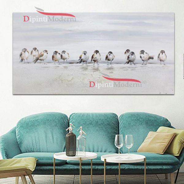 Dipinto a mano con uccelli sfondo bianco