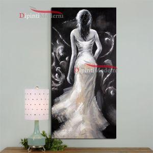 Dipinto a mano donna in abito da sposa