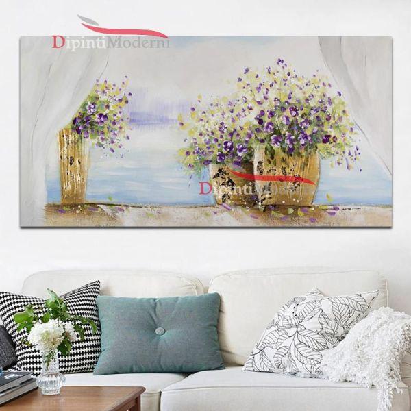Quadri con vasi di fiori finestra dipinti moderni for Finestra con fiori disegno
