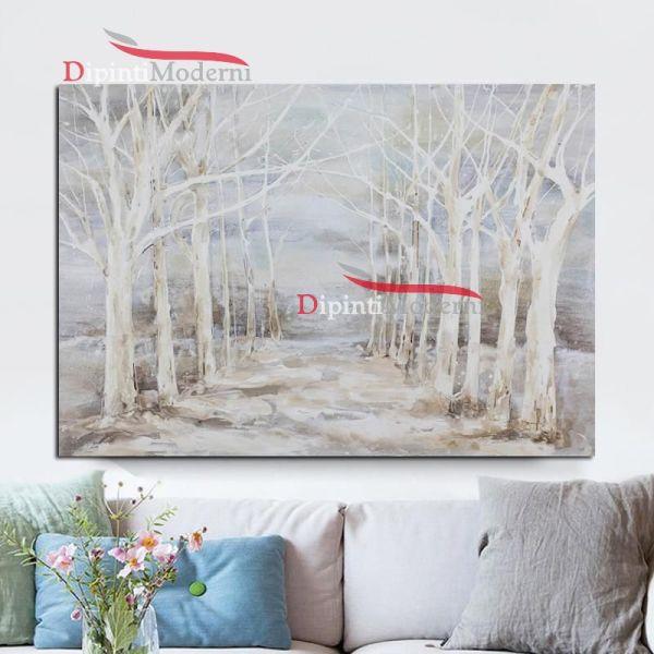 Quadri su tela con alberi bianchi secchi