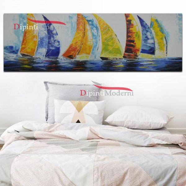 Dipinti moderni barche a vela colorate
