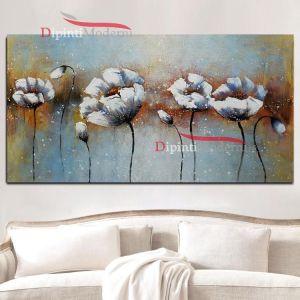 Dipinti su tela fiori astratti bianchi