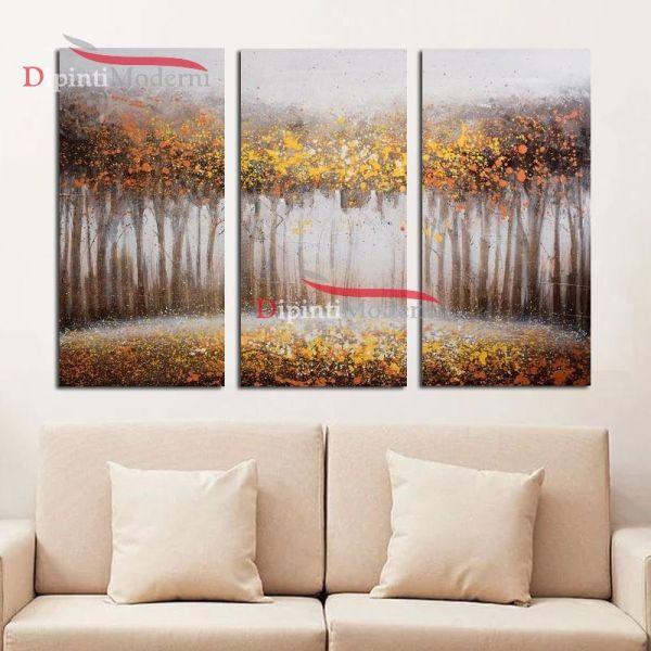 Foresta incantata autunno foglie secche dipinti su tela