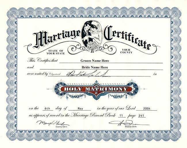 How Fill Out Marriage Certificate