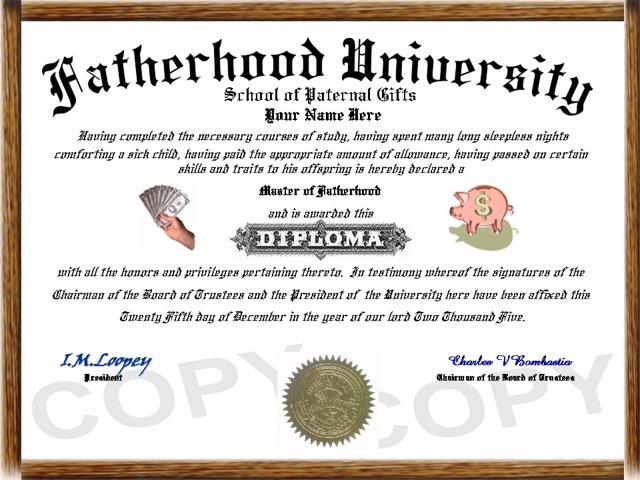 Family Diplomas