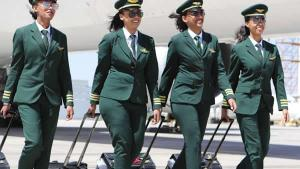 Ethiopian Airlines All – Female Crew Is Welcomed By Argentine President