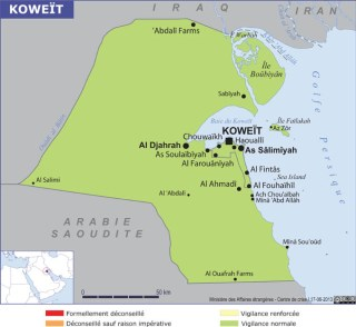 Map of Kuwait (Source » France)