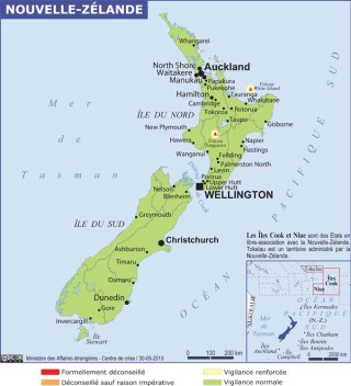Map of New Zealand (Source » France, June 2020)