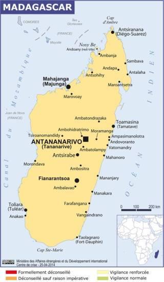 Map of Madagascar (Source » France, 2021)