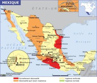 Map of Mexico (Source » France, June 2021)