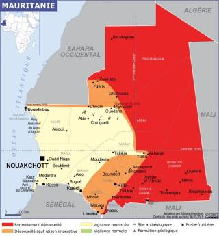 Map of Mauritania (Source » France, July 2021)