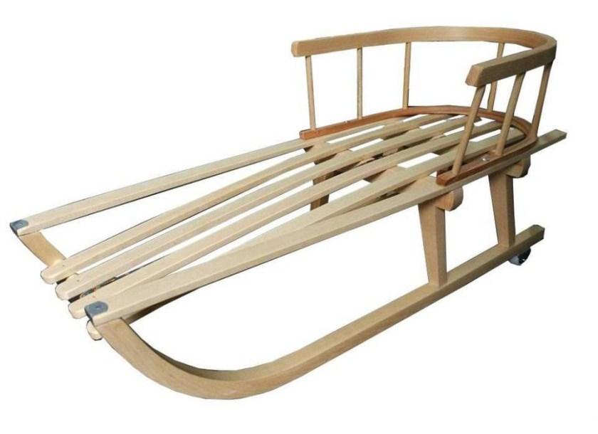sanki drewniane
