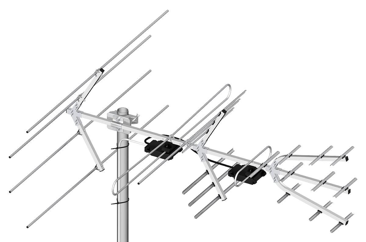 Professional Vhf And Uhf Dvb T T2 Antenna Set H V Dipol