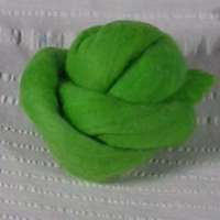 Solid Merino Roving, 1-oz ball, Gosh That's Green