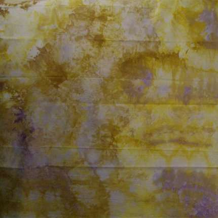 Snow Dyed Broadcloth 6 yellow and white