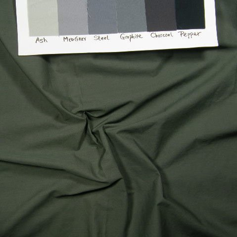 "Dark greyed olive solid on 419, 19"" piece"